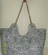 Snake Print Leather Bag