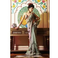 Rasham Work Saree