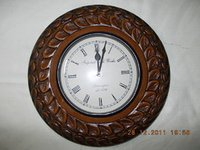 Wooden Carving Clock