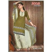 Chiffon Salwar Suit With Dupatta (Jeenat)