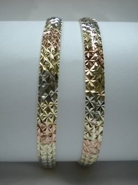 Brass Diamond Cut Bangles