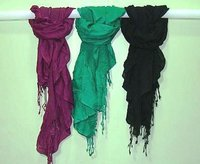 Plain Dyed Pashmina - Satin Scarves