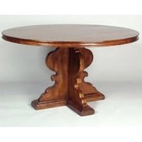 Round Dining Table with Crossed Legs