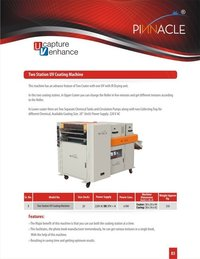 Two Station Uv Coating Machine