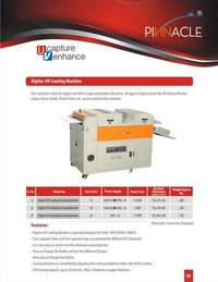 Digitec Uv Coating Machine