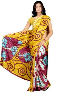 Jacquard Yellow Saree