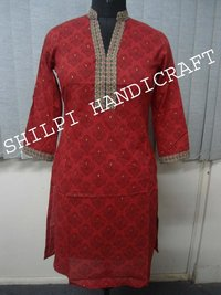 Zari Work Embroidery Kurta