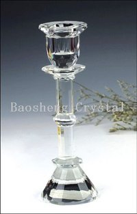 Single Head On Double Pillar Crystal Candlestick (BS-CH003)