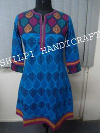 Designer Printed Cotton Kurta