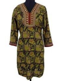 Block Printed Ethnic Kurtis