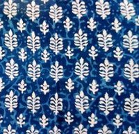 Indigo Block Print Fabric