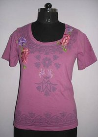 Ladies Half Embroidery Tops