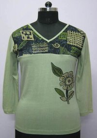 Printed Designer Embroidery Tops