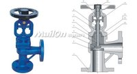 DIN Bellows Sealed Globe Valve Angle Type