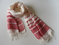 Handwoven Linen Stripes Scarf