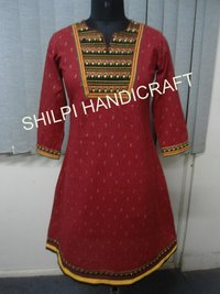 Gold Printed Kurta