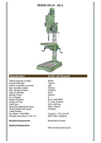 Manual Drilling Machine