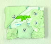 Adorable Star Baby Gift Set - Green (5 pc set)