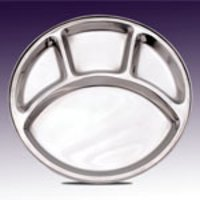 Round Stainless Steel Mess Tray