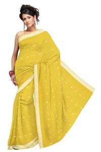 Pure Rajasthani Marvelous Lemon Yellow Saree