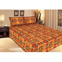 Pure Cotton 3 Piece Double Bed Sheet