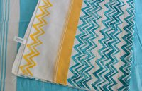 Zigzag Blue Table Cloth