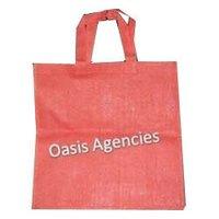 Plain Orange Jute Shopping Bag