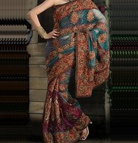 Flock Prints Sarees