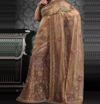 Gold Hand Block Prints Saree