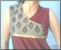 Bagru Chicken Work Booti Kurti