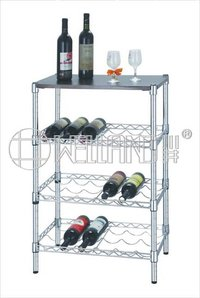 Adjustable Modern Metal Bottle Rack Holder