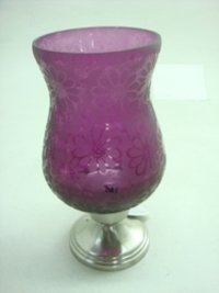 Hurricane Vase With Purple Colour