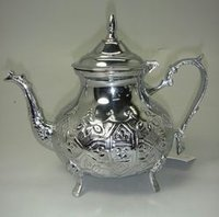 Chrome Finish Teapot