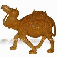 Shikari Work Wooden Camel