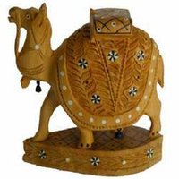 Inlaid Work Wooden Camel