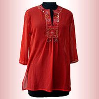 Designer Red Kurta