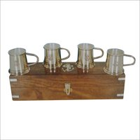 Brass Rum Measure Set