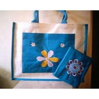 Embroidery Laminated Jute Bags