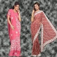 Silver Zari Embroidered Sarees