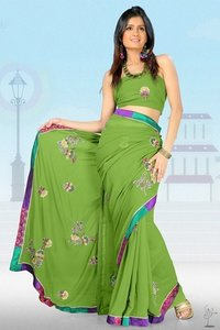 Green Fancy Sarees