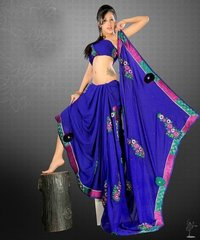 Blue Fancy Sarees