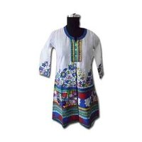 Embroidery Border Cotton Kurtis