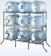 9 Bottle Metal Wine Rack Stand
