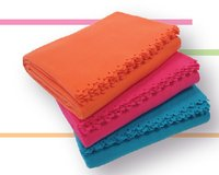 Hi-Pile Coral Solid Fleece Blanket