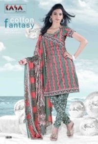 Kasa Printed Cotton Ladies Suits