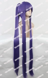 Long Straight Purple Women's Anime Cosplay Hair Wigs
