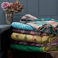 Cotton Old Vintage Indian Kantha Work Throw