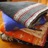 Indian Vintage Kantha Work Quilt