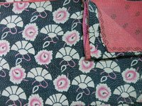 Authentic Cotton Handquilted Kantha Quilt