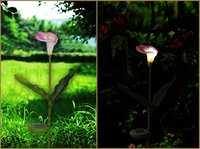 PU Flower LED Solar Powered Garden Decoration Auto On/Off Lighting